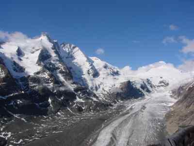 Großglockner Österreichs höchster Berg mit der Pasterze