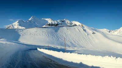 Schneelandschaft am Großglockner