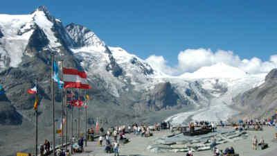 Die Landschaft rund um den Gletscher