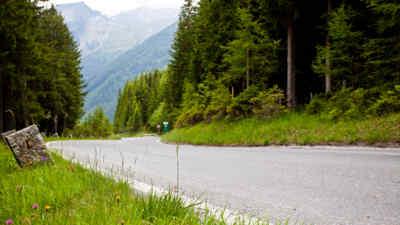 Eckpfeiler auf der Gerlos Alpenstraße