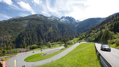 Fahrt auf der Gerlos Alpenstraße