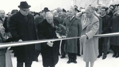 Governor Lechner and Franz Wallack