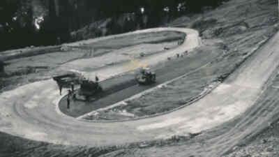 Bau der Gerlos Alpenstraße