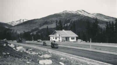 Road roller on the Gerlos Alpine Road