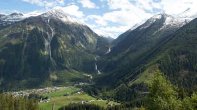 Landscape shot near Krimml worlds