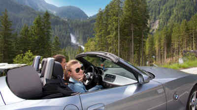 Convertible drivers on the Gerlosstrasse