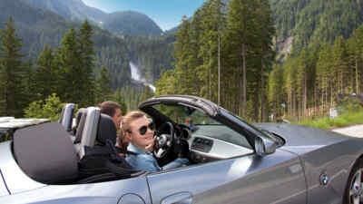Cabrio Fahrer auf der Gerlosstrasse